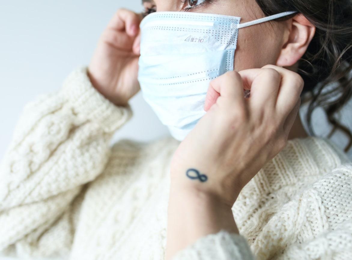 women wearing surgical mask
